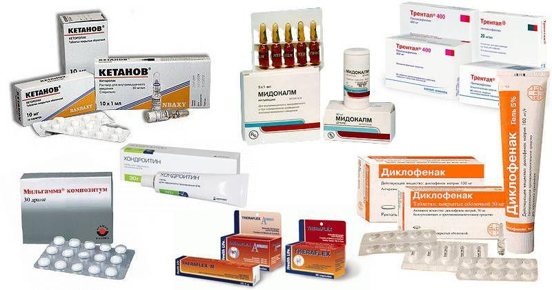 Препараты для лечения заболеваний позвоночника