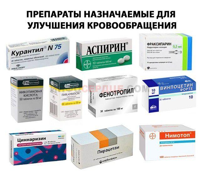 Препараты, назначаемые для улучшения кровообращения