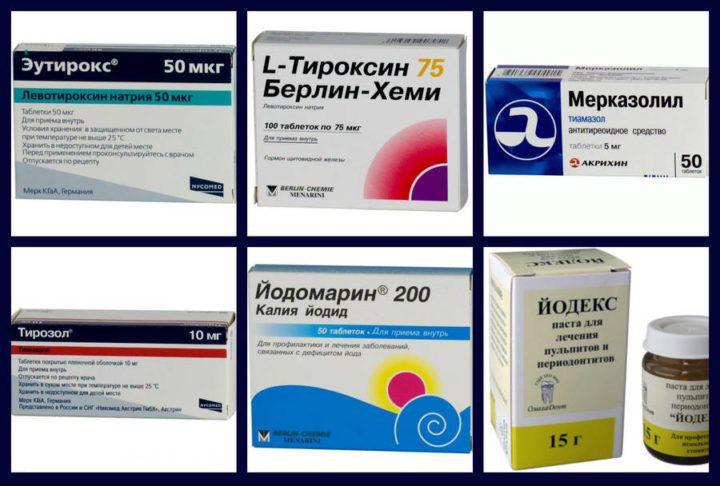 Препараты для лечения заболеваний щитовидной железы