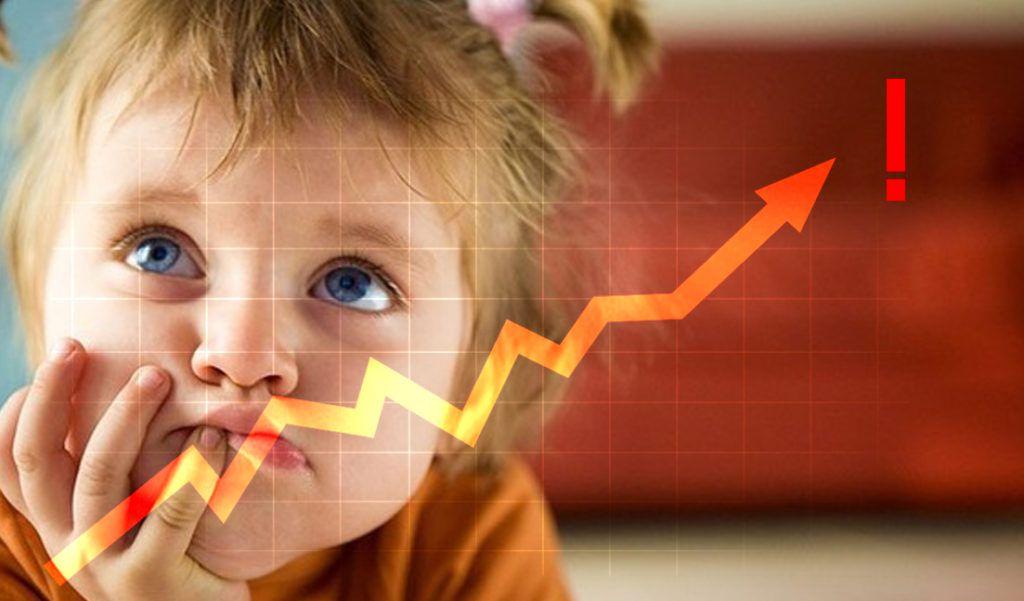 Девочка и растущий график