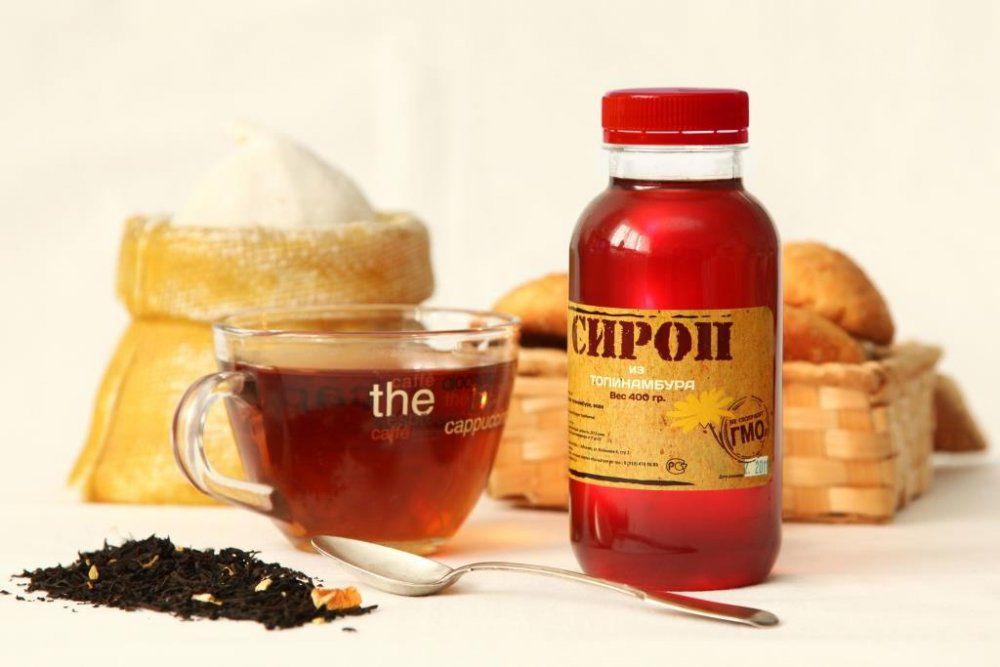 Сироп топинамбура, чай и выпечка