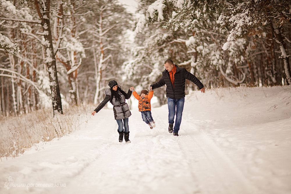Семейная прогулка в парке
